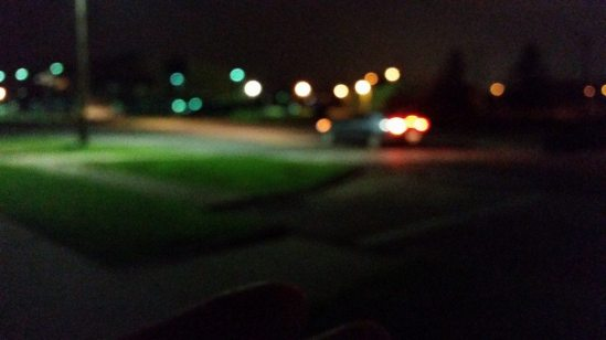 blurred streetlights