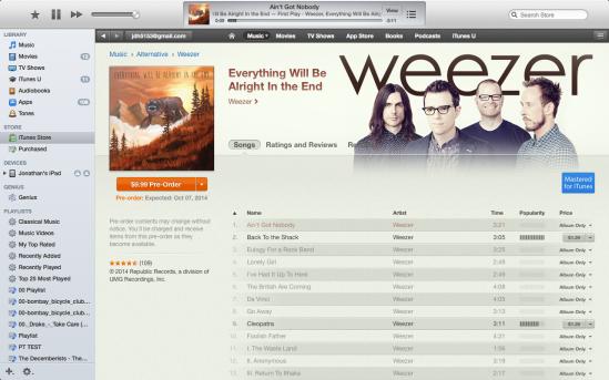 Weezer on iTunes