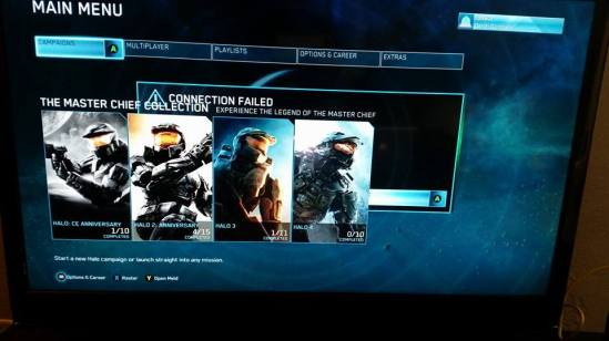 Master Chief Collection Connection Failed
