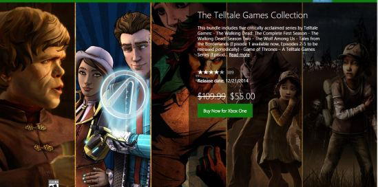 Telltale games collection xbox one
