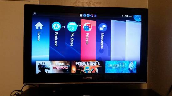 Playstation TV interface