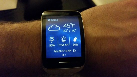 galaxy gear s weather
