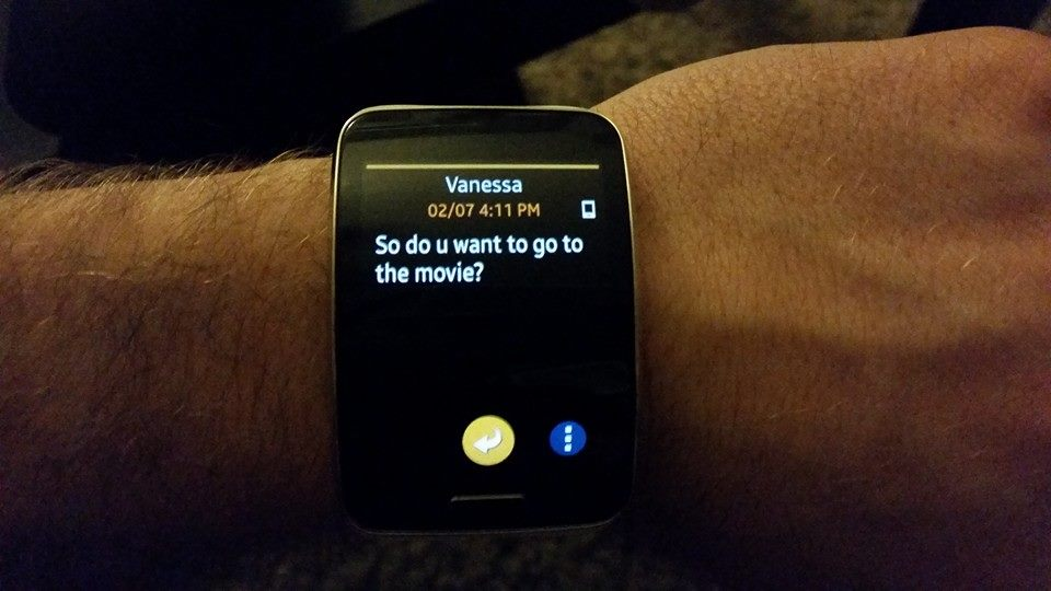 galaxy gear s messages