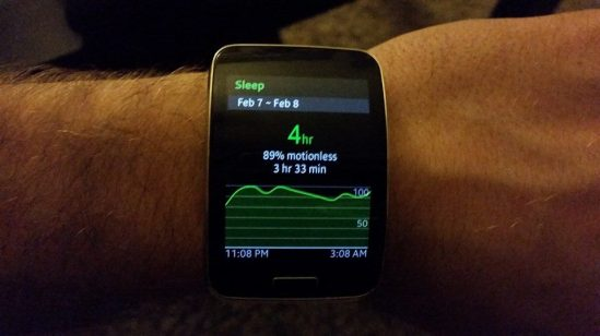 galaxy gear s health sleep
