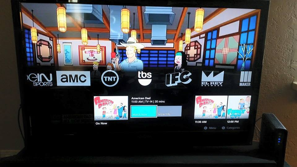 Sling TV guide (xbox one)