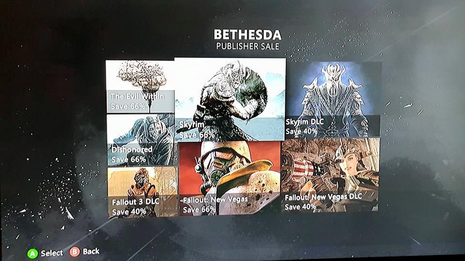 Bethesda Publisher sale xbox 360