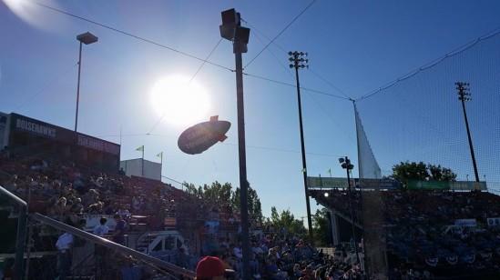 Boise Hawks sun blocking blimp