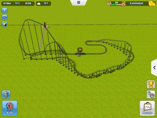 rollercoaster tycoon 3 ios screenshot
