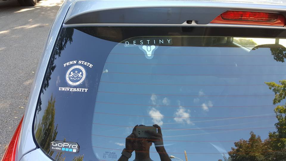 Destiny window sticker
