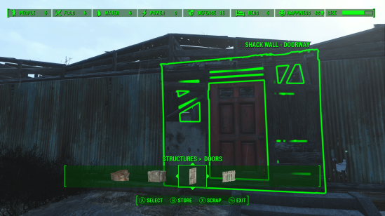 Fallout 4 building mode