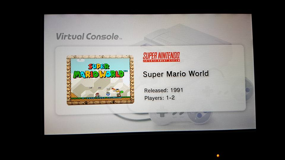 Super Mario World virtual console