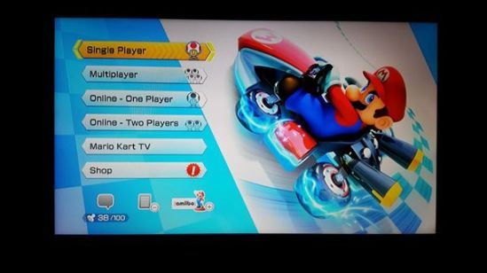 Mario Kart 8 menu