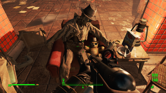 Fallout 4 dead man and teddy bear