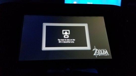 Breath of the Wild Wii U gamepad
